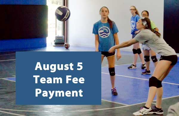north kansas city eclipse volleyball club kc - august team fee payment