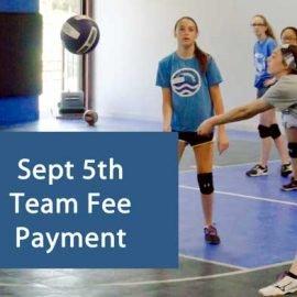 north kansas city eclipse volleyball club kc - september team fee payment