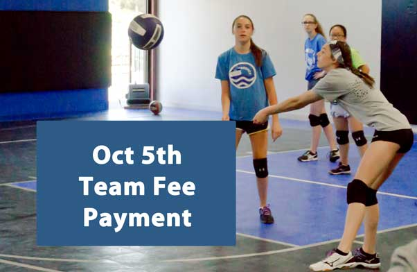 October team fee payment due