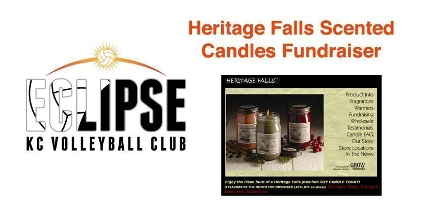 Eclipse Volleyball Club KC's Scented Candle Fundraiser