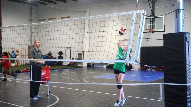 May 2019 volleyball Training Session - Kansas City north's Eclipse Volleyball Club KC - 14u hitting over net