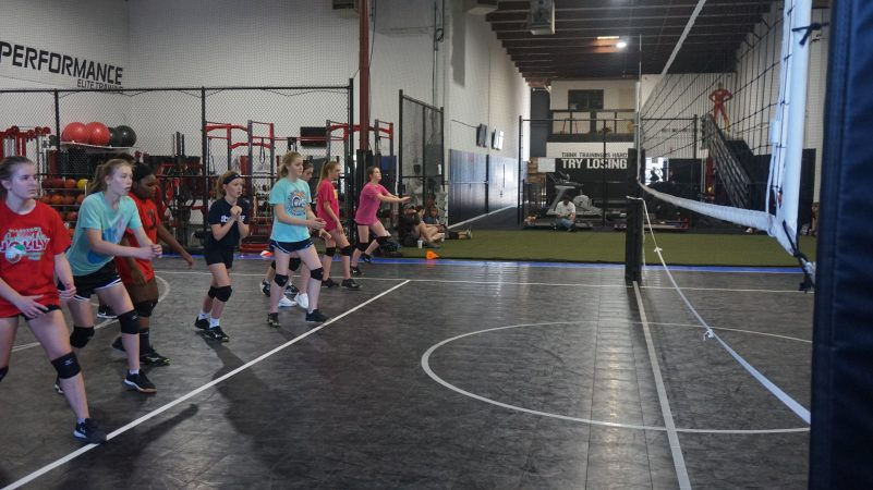 May 2019 volleyball Training Session - Kansas City north's Eclipse Volleyball Club KC - 14u working on approach