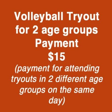 Kansas City North's Eclipse Volleyball Club KC payment for 2 age group tryout