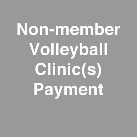 non-member volleyball hitting clinic payment