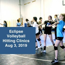 volleyball hitting clinics august 2019