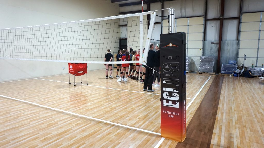 Eclipse Volleyball padding poles