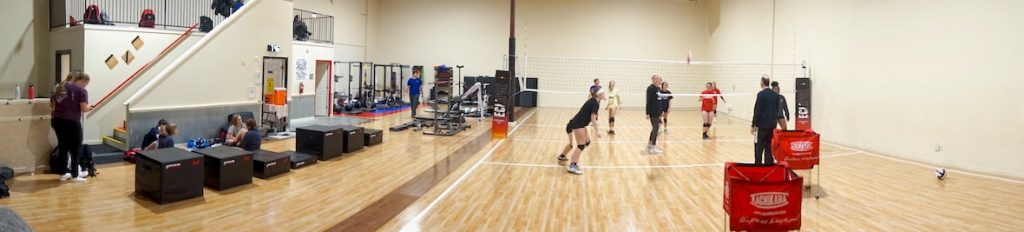 Practice Location Volleyball Court Panorama - Eclipse Volleyball Club KC