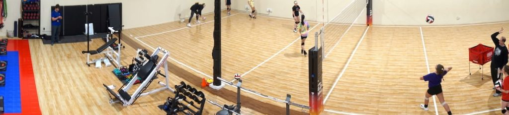 Panorama of vb court - Eclipse Volleyball Practice Location