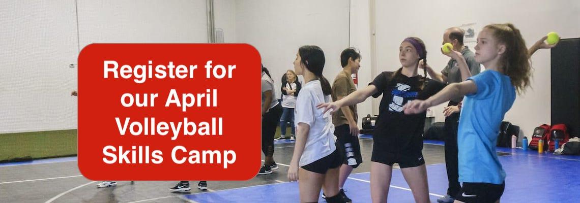 girls & boys volleyball camp april 2020 - register