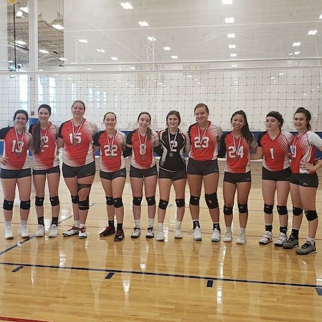 OlivaD with her Eclipse Volleyball 18-1 team 2020