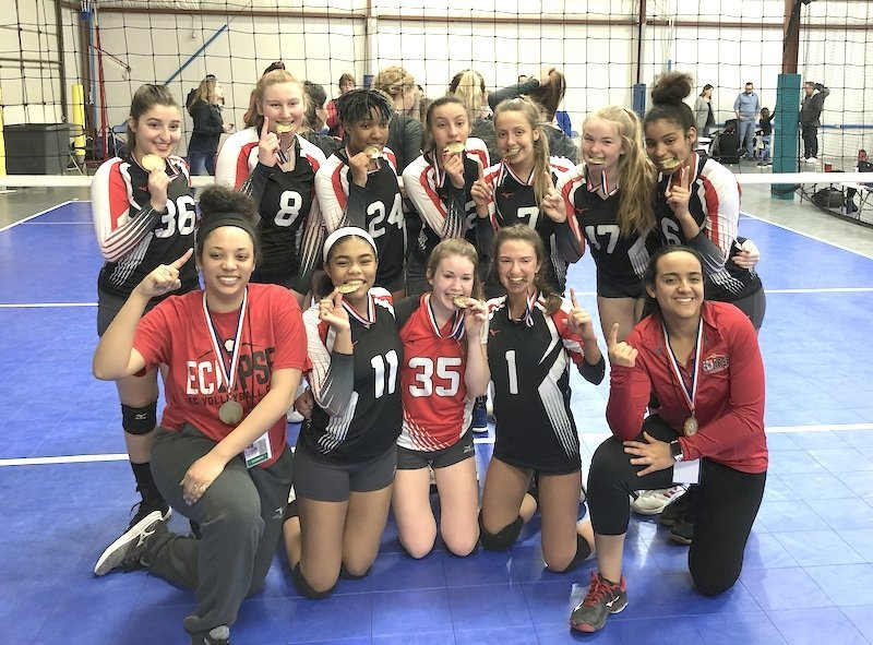 recognizing eclipse volleyball club 17-2 team